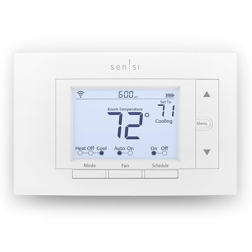 White-Rodgers Division - WiFi Thermostat, White, 5