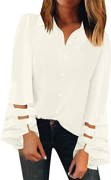 Blusa Mujer Moda Manga Larga Casual Color sólido Camiseta Sudaderas Invierno Jersey Tumblr Mujer Otoño Primavera Blusa Tops Suéter Mujer Abrigo Deportiva por vpass: Amazon.es: Ropa y accesorios