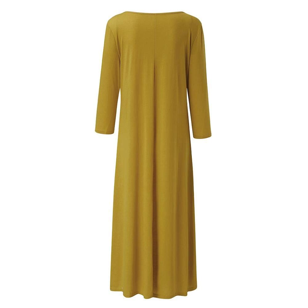 Womens Dresses SHOBDW Ladies Fashion Solid Summer Autumn Casual Print Dot Short Sleeve V Neck Straight Dress Long Shirt Tops