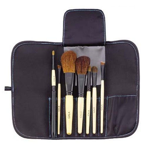 Cala Brush 7 pcs Set Makeup Tools w/carrying Case 70815 (Cala Makeup Brushes compare prices)