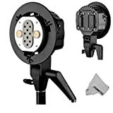 Godox AD-B2 Dual Power Twin Head Bowens Mount to Install 2 Godox AD200 Pocket Flash or Flashpoint eVOLV 200 TTL Modular Strobe Light Together to Achieve 400W Power Output