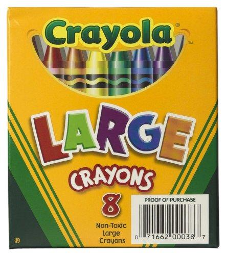 Crayola 8ct Large Crayons Lift