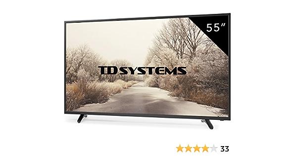 Televisores Led 55 Pulgadas Full HD TD Systems K55DLT6F. Resolución Full HD, 3X HDMI, VGA, 2X USB Reproductor y Grabador, TV Led TDT HD DVB-T2: Amazon.es: Electrónica