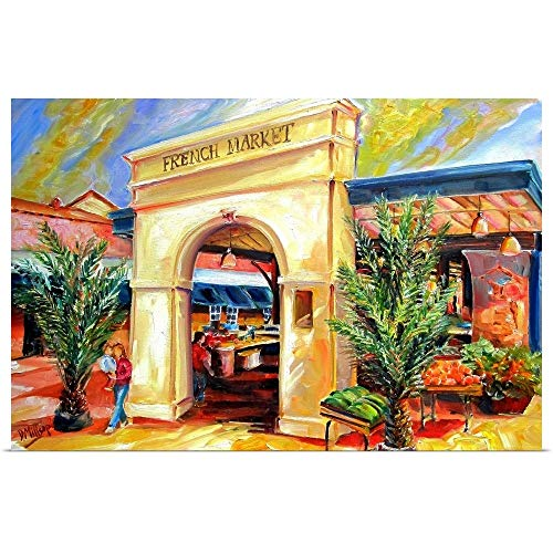 (GREATBIGCANVAS Poster Print Entitled Sunny French Market by Diane Millsap 18
