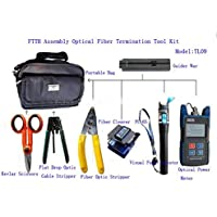J-DEAL® FTTH-TL09 Assembly Optical Fiber Termination Tool Kit With FC-6S Fiber TL510 Cleaver Optical Power Meter 10mW Pen-type Visual Fault Finder