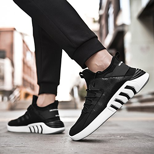 Men's Shoes Feifei Spring and Autumn Leisure Movement Wear-Resistant High-Top Shoes 3 Colors(Size Multiple Choice) (Color : 01, Size : EU39/UK6.5/CN40)