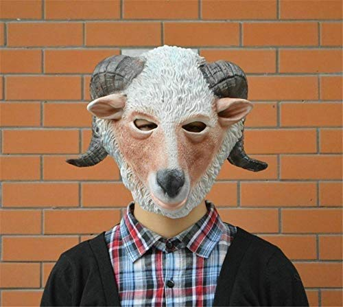 Party Cosplay Goat Sheep Head Mask Halloween Fancy Dress Party Halloween Costume Festival Supply Animal Mask