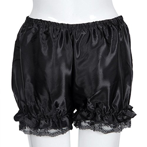 Nero Pizzo Casual Bloomers Amlaiworld Donne Pants Elasticità pantaloni Hot Estate Shorts FxnqBqw0Rv