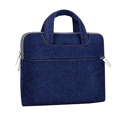 YiJee Mezclilla Fundas para Laptop Bolsa Portatil Macbook de 11 - 15.4 Pulgadas 15.4 Inch Azul