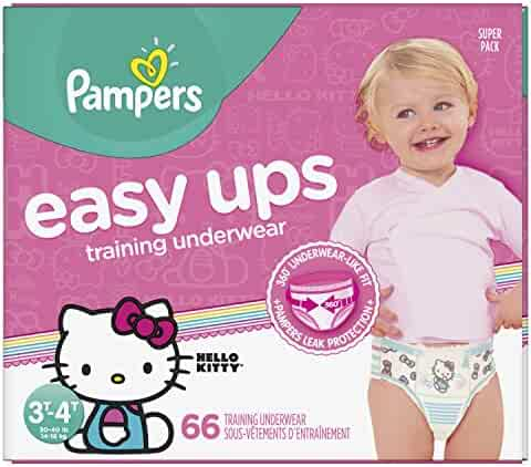 90ad170a72b5 Pampers Easy Ups Pull On Disposable Training Diaper for Girls Size 5 (3T-4T