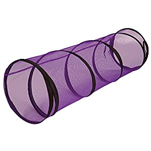 Petmate Jackson Galaxy Cat Crawl Mesh Tunnel, Purple/Blue 100