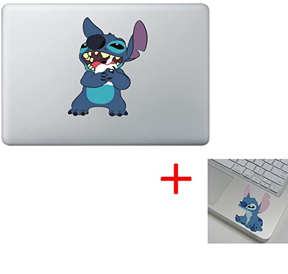 Stitch hugging apple colored macbook sticker decal vinyl skin cover laptop stitch stitch
