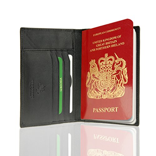 Unisex Soft Leather Wallet (Black) - 6