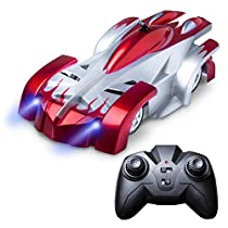 Wall Climbing Remote Control Car - Force1 Gravity Defying RC Car in Assorted Colors for a More Custom Mini RC Car (Red)