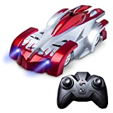 Force1 Wall Climbing RC Car – 4 Assorted Colors Fast Remote Control Car for Boys and Girls with RC Cars for Kids Remote + USB RC Car Charger (Red)