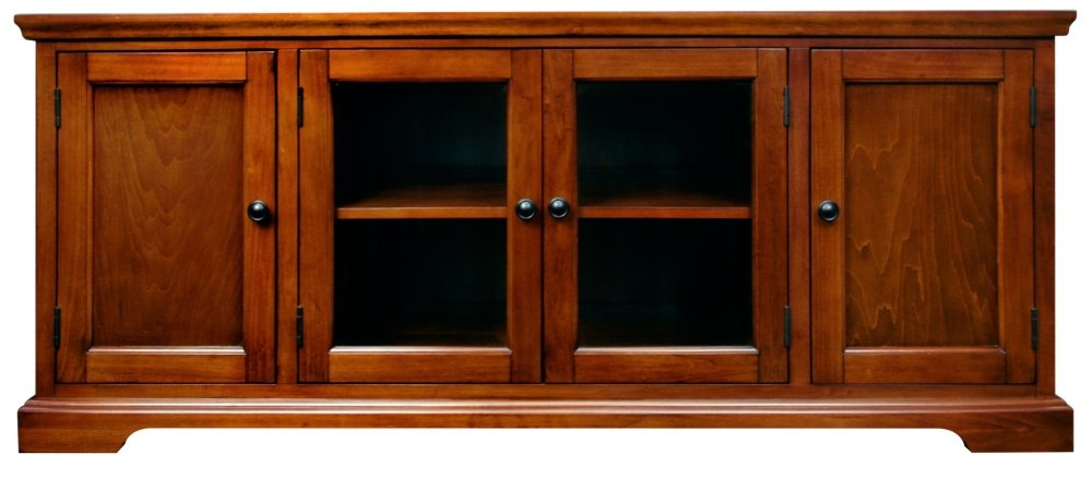 e74d21f76 Amazon.com  Leick Westwood Cherry Hardwood TV Stand