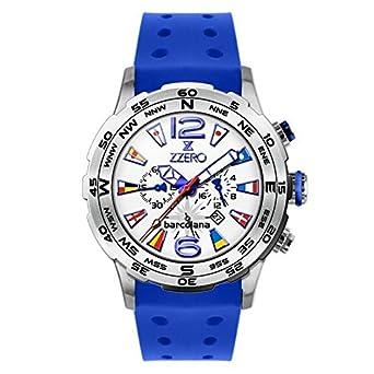 Uhr Zzero Barcolana zz3592 C Quarz (Batterie) Stahl Quandrante weiß Armband Gummiarmband '