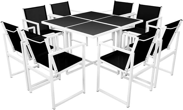 vidaXL Set Comedor Jardín 9 Piezas 109x109x72 Mobiliario Muebles Patio Terraza: Amazon.es: Hogar