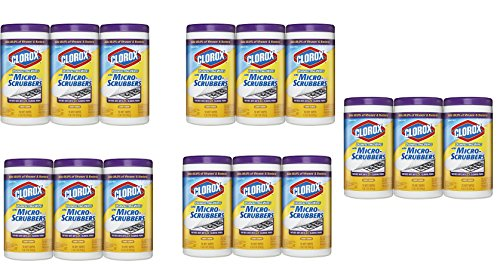 Clorox Disinfecting Wipes with Micro-Scrubbers Value Pack,Crisp Lemon, LyZauY 1050 Count by .