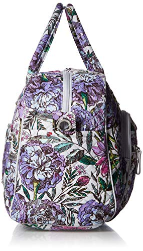 51IQHWGzxKL - Vera Bradley Iconic Compact Weekender Travel Bag, Signature Cotton, Lavender Meadow