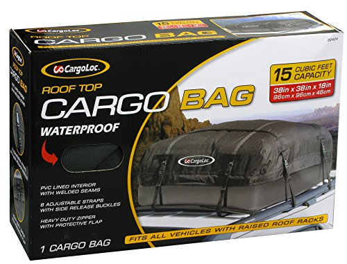 - Cargoloc 32424 15-Cubic/Feet Deluxe Roof Top Waterproof Cargo Carrier