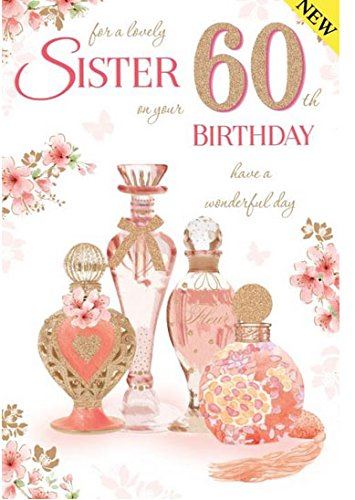 60th Birthday Card For A Sister Amazoncouk Kitchen Home
