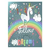 ShineSnow Rainbow Unicorn Follow Your Dreams Flowers Double Sided Garden Yard Flag 12'' x 18'', Funny Unicorn Rainbow Heart Welcome Summer Decorative Garden Flag Banner for Outdoor Home Decor Party