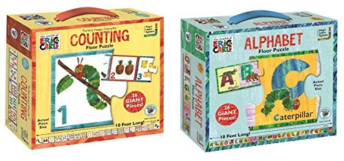 - Eric Carle Alphabet and Counting Floor Puzzle Bundle of Two Puzzles