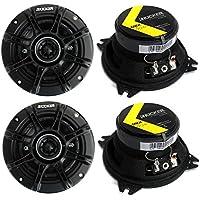 4) Kicker 41DSC44 D-Series 4 240 Watt 4-Ohm 2-Way Car Audio Coaxial Speakers
