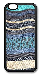 ACESR Layering Blue Top iPhone 6 Case TPU Back Cover Case for Apple iPhone 6 4.7inch Black