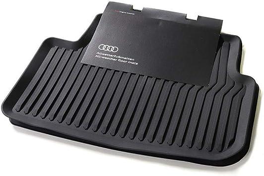 Audi 82B061501041 Colore: Nero Tappetini in Gomma per Tutte Le Stagioni 2 tappetini Anteriori Originali