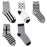 Men Cotton Crew Socks 5 Pack Winter Warm Sport Hiking Socks offers