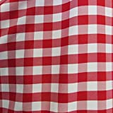 "5 Yards Checker Fabric 60"" Wide Gingham Buffalo Check Tablelcoth Fabric Decoration Red / White FREE SHIPPING"