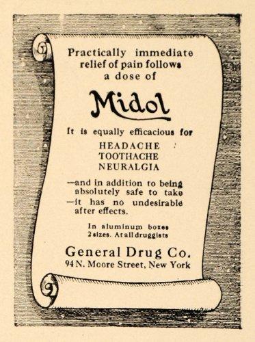 1923-ad-midol-general-drug-headache-toothache-neuralgia-original-print-ad