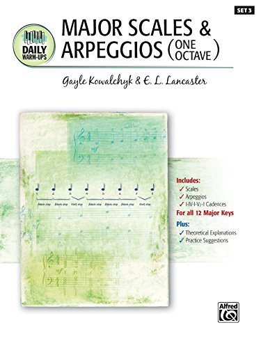 (Daily Warm-Ups, Set 3, Major Scales & Arpeggios (One Octave): Piano Method for)