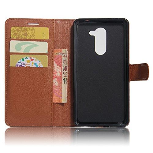 Manyip Funda Huawei Mate 9 lite,Caja del teléfono del cuero,Protector de Pantalla de Slim Case Estilo Billetera con Ranuras para Tarjetas, Soporte Plegable, Cierre Magnético(JFC5-12) A