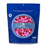 Colored Size 00 Empty Gelatin Capsules by Capsuline – Pink/Pink 10000 Count