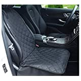 Petslover Front Waterproof Seat Cover for Pets 800 Oxford Fabric Material Protect Your Seat with Anchors, Quilted, Padded and Durable, (Black)
