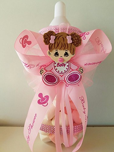 Baby Shower Centerpiece Fillable Bottle Big 14'' Piggy Bank its a Girl Decoration by Product789