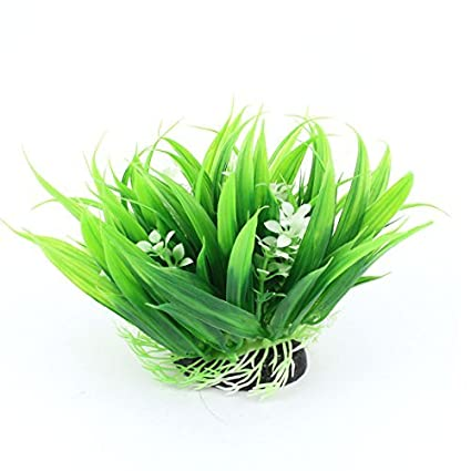 eDealMax acuario plástico Detalle Flores Planta de agua, 5, Verde