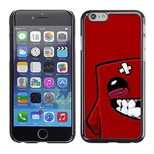 Caucho caso de Shell duro de la cubierta de accesorios de protección BY RAYDREAMMM - Apple Iphone 6 Plus 5.5 - Cara Roja Blob