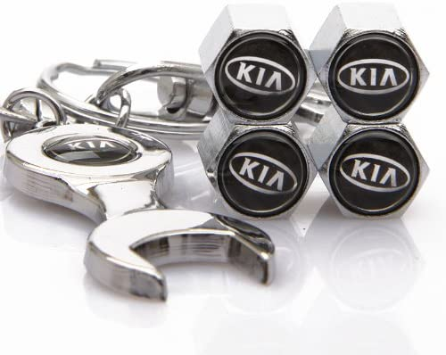 D/&R Wrench Keychain Chrome Tire Valve Stem Caps for Nissan by DR