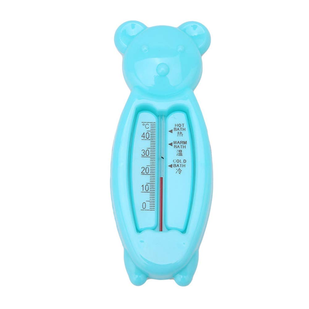Softmusic Bathroom Gadgets Bear Shape Baby Shower Bath Water Thermometer Temperature Test Tool Blue