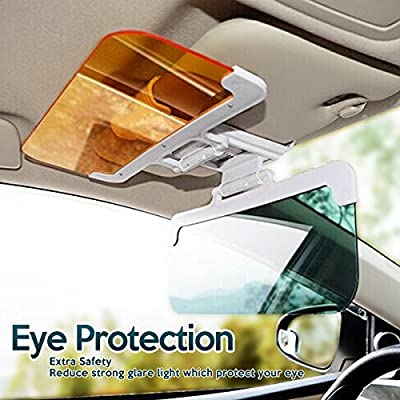 Zone Tech Day and Night Anti-Glare Car Windshield Visor - Premium Quality Universal Sunshade and Night Vision Anti-Dazzle Windshield Driving Visor: Automotive