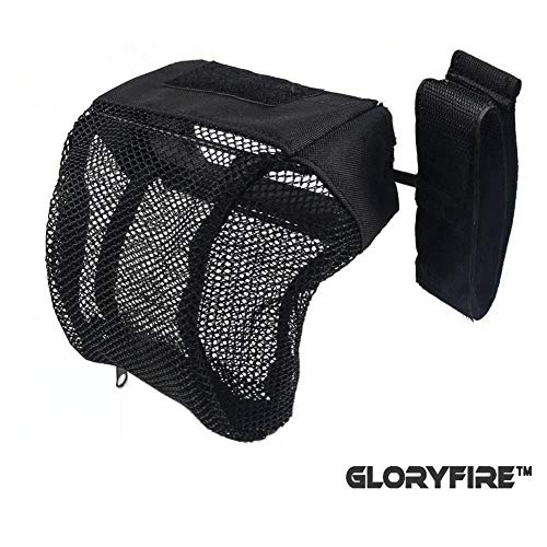 GLORYFIRE Brass Catcher Tactical Deluxe Mesh Brass Shell Catcher with Zippered Bottom for Quick Unload (Black 1) ()