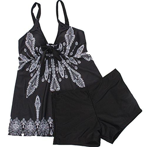 a1dc879a2f Urban Virgin Womens 2 Piece Bikini Spaghetti Strap Printed Padded Tank Top  Tankini Swimsuits For Women