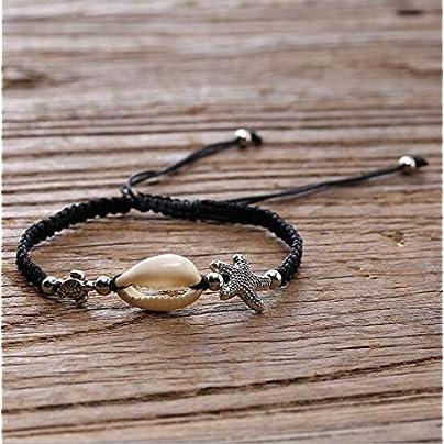 ZUOZUO Leather Wristband Women S Bracelet Shell Sea Shell Bracelet Adjustable Estimated Price £16.99 -