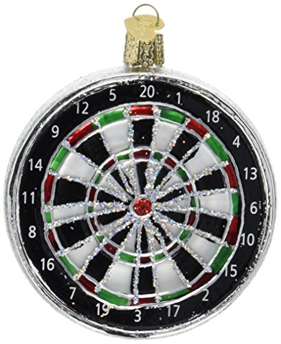 Old World Christmas Dart Board Glass Blown Ornament