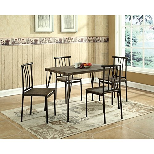 5 Piece Dining Table | 4 Chairs with 1 Table | Global Furniture Dining Table Set