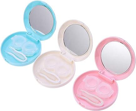 SUPVOX 3pcs Mini estuches para lentes de contacto Caja para porta lentes de contacto de viaje Izquierda/Dereza Ojo Contenedor de lentes de contacto: Amazon.es: Salud y cuidado personal